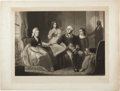 """Political:Miscellaneous Political, George Washington: Signed Artist's Proof of """"Washington and HisFamily,"""" a Mezzotint Portrait by William Sartain...."""