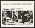 "Movie Posters:Foreign, La Dolce Vita (American International, R-1966). Half Sheet (22"" X 28""). Drama.. ..."
