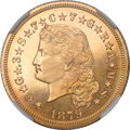 Proof Four Dollar Gold Pieces, 1879 $4 Flowing Hair, Judd-1635, Pollock-1833, R.3, PR67 NGC....