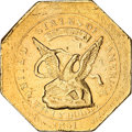 Territorial Gold, 1851 $50 RE Humbert Fifty Dollar, 880 Thous. XF45 NGC....