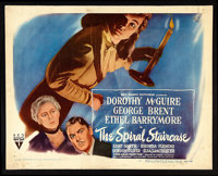 "The Spiral Staircase (RKO, 1945). Half Sheet (22"" X 28"") Style B. Thriller"