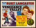 """Movie Posters:Western, Vengeance Valley (MGM, 1951). Half Sheet (22"""" X 28"""") Style A.Western.. ..."""