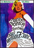 "Movie Posters:Comedy, The Seven Year Itch (20th Century Fox, R-1966). German A1 (23.25"" X 33""). Comedy.. ..."