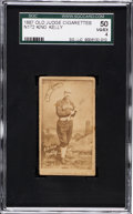 Baseball Cards:Singles (Pre-1930), 1887 N172 Old Judge King Kelly, Bat at Ready-Left handed SGC 50VG/EX 4....