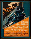 "Movie Posters:Miscellaneous, French Railroad Poster (Parker-Holladay, 1920s). Poster (21"" X27""). Miscellaneous.. ..."