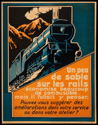 """French Railroad Poster (Parker-Holladay, 1920s). Poster (21"""" X 27""""). Miscellaneous"""