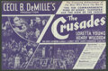 "Movie Posters:Adventure, The Crusades (Paramount, 1935). Herald (9"" X 14,"" Folded Out).Adventure.. ..."