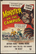 "Movie Posters:Horror, Monster on the Campus (Universal International, 1958). One Sheet (27"" X 41""). Horror.. ..."