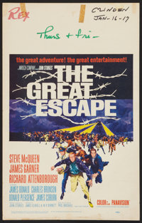 "The Great Escape (United Artists, 1963). Window Card (14"" X 22""). War"