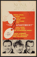 """Movie Posters:Comedy, The Apartment (United Artists, 1960). Window Card (14"""" X 22"""").Comedy.. ..."""