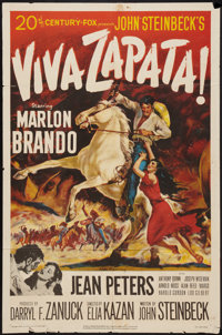 "Viva Zapata! (20th Century Fox, 1952). One Sheet (27"" X 41""). Drama"