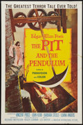 """Movie Posters:Horror, The Pit and the Pendulum (American International, 1961). One Sheet (27"""" X 41""""). Horror.. ..."""