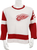Hockey Collectibles:Uniforms, 1965-67 Andy Bathgate Game Worn Jersey....