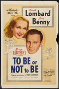"Movie Posters:Comedy, To Be or Not to Be (United Artists, 1942). One Sheet (27"" X 41""). Comedy.. ..."