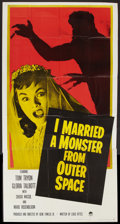 "Movie Posters:Science Fiction, I Married a Monster from Outer Space (Paramount, 1958). Three Sheet(41"" X 81""). Science Fiction.. ..."