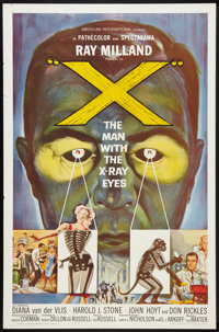 """X - The Man With the X-Ray Eyes (American International, 1963). One Sheet (27"""" X 41""""). Science Fiction"""