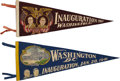 Political:Textile Display (1896-present), Franklin D. Roosevelt: Two Inaugural Felt Pennants, 1937 and1941.... (Total: 2 Items)