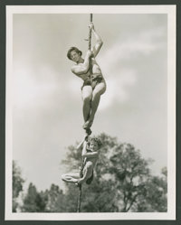 """Johnny Weissmuller and Johnny Sheffield in """"Tarzan Finds a Son"""" (MGM, 1939). Still (8"""" X 10""""). Adven..."""