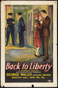 "Back to Liberty (Excellent, 1927). One Sheet (27"" X 41""). Mystery"