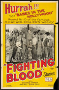 "Movie Posters:Comedy, Fighting Blood (RC, 1923). One Sheet (27"" X 41"") Style B. Chapter10 -- ""Babes in the Hollywood."" Serial.. ..."