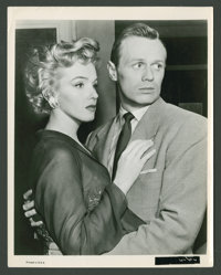 "Marilyn Monroe and Richard Widmark in ""Don't Bother to Knock"" (20th Century Fox, 1952). Still (8"" X 10&qu..."