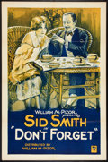 "Movie Posters:Short Subject, Don't Forget (William Pizor, 1920). One Sheet (27"" X 41""). ShortSubject.. ..."