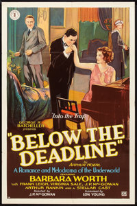 "Below the Deadline (Chesterfield, 1929). One Sheet (27"" X 41"") Style A. Crime"