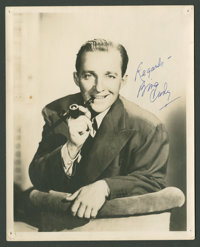 """Bing Crosby (Paramount, 1939). Autographed Portrait Still (8"""" X 10""""). Musical"""