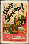 "Movie Posters:Short Subject, Don't Scream! (Universal, 1923). One Sheet (27"" X 41""). ShortSubject.. ..."