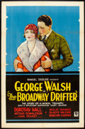 "Movie Posters:Drama, The Broadway Drifter (Excellent, 1927). One Sheet (27"" X 41"") StyleA. Drama.. ..."