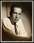 "Movie Posters:Miscellaneous, Humphrey Bogart (Warner Brothers, 1940s). Portrait Still (11"" X13.75""). Miscellaneous.. ..."