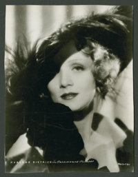 """Marlene Dietrich Lot (Paramount, 1930s). Stills (2) (8"""" X 10"""") and (7"""" X 9.5""""). Miscellaneous. ... (..."""