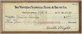 "Autographs:Inventors, Orville Wright Signed Check, 8"" x 3"" (sight), drawn on WintersNational Bank & Trust Co., Dayton, Ohio, February 3, 1941..."