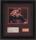 Music Memorabilia:Autographs and Signed Items, Eddie Van Halen Signed Check....