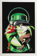 Original Comic Art:Covers, Alex Ross - Overstreet Comic Book Price Guide #27 Cover FeaturingThe Golden Age Green Lantern Original Art (1997)....