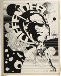 Original Comic Art:Splash Pages, Jim Steranko - Comic Crusader #13 Defender Cover Original Art(1972). ...