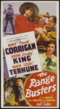 "Movie Posters:Western, The Range Busters (Monogram, 1940). Three Sheet (41"" X 81""). Western. Starring Ray Corrigan, John 'Dusty' King, Max Terhune,..."