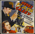 "Movie Posters:Action, Here's Flash Casey (Grand National, 1938). Six Sheet (81"" X 81"").Action. Starring Eric Linden, Boots Mallory, Cully Richard..."