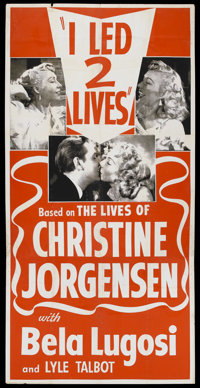 "I Led 2 Lives (aka Glen or Glenda) (Screen Classics, 1953). Three Sheet (41"" X 81""). Cult Classic. Starring Be..."