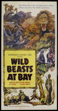 "Movie Posters:Documentary, Wild Beasts at Bay (Cosmopolitan, 1947). Three Sheet (41"" X 81""). Documentary...."