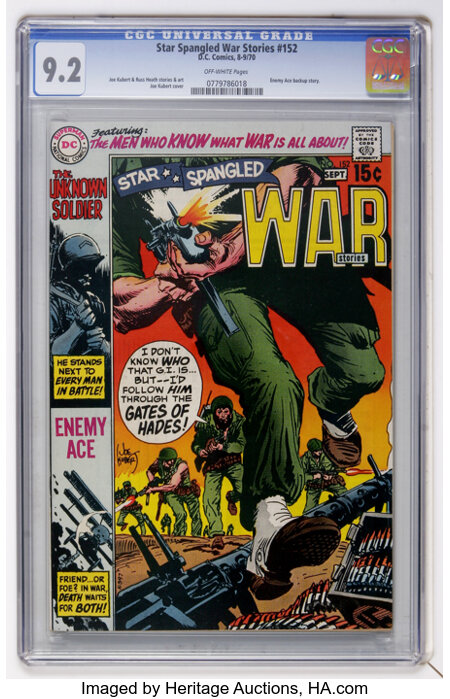 Star Spangled War Stories #152 (DC, 1970) CGC NM- 9.2 Off-white pages....