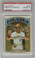 Baseball Cards:Singles (1970-Now), 1972 Topps Roberto Clemente #309 PSA NM-MT 8. Nicely centered exemplar from Topps' '72 issue features HOFer Roberto Clement...