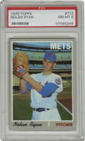 Baseball Cards:Singles (1970-Now), 1970 Topps Nolan Ryan #712 PSA NM-MT 8. On the heels of the Mets'amazin' 1969 season, this card was a favorite among young...