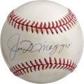 Autographs:Baseballs, Joe DiMaggio Single Signed Baseball. Joe D made many fans in Gothamand beyond due to his classic swing and seemingly effor...