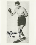 Boxing Collectibles:Autographs, Max Schmeling Signed Photograph. Because his rise through the heavyweight ranks coincided with the turbulent years leading ...