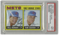 Baseball Cards:Singles (1960-1969), 1967 Topps Mets Rookie Stars Bill Denehy, Tom Seaver #581 PSA NM 7. The baseball world is introduced to a Hall of Fame hurl...