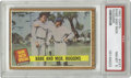 """Baseball Cards:Singles (1960-1969), 1962 Topps Babe and Mgr. Huggins #137 PSA NM-MT 8. From the """"BabeRuth Special"""" part of the '62 Topps baseball set we offer..."""