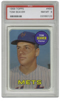 Baseball Cards:Singles (1960-1969), 1969 Topps Tom Seaver #480 PSA NM-MT 8. Tom Terrific during theAmazing World Championship season! Spectacular color and r...