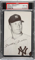 Baseball Cards:Singles (1940-1949), 1947-1966 Exhibits Mickey Mantle Portrait PSA NM-MT 8....