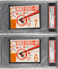 Baseball Collectibles:Tickets, 1971 World Series Ticket Stubs Lot of 2.. ... (Total: 2 items)